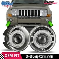 For Jeep Commander 06-10 Factory Replacement Halo Projector Fog Light Clear Lens
