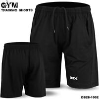Mens Gym Cotton Shorts Training Sports Running Workout Short Size S to XL Black