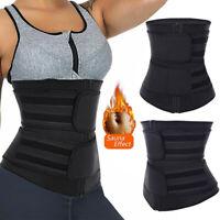 Waist Trainer Cincher Trimmer Sweat Wrap Belt Body Shaper Men&Women Shapewear US
