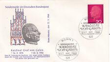 West Germany 1966 20th Death anniversary of Clemens von Galen FDC Unadressed VGC