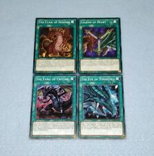 Yugioh The Eye of Timaeus Fang of Critias Claw of Hermos Legend Heart 4 Card Set