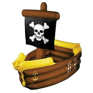 3 FT INFLATABLE PIRATE SHIP COOLER HALLOWEEN PARTY DECORATION BG50989