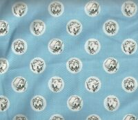 Aunt Marthas Busy Kittens blue Henry Glass fabric