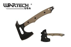 "10"" Tactical Hammer Axe w/ Grey G10 Handle"