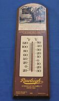 """Vintage 15"""" Wooden Advertising Thermometer RAWLEIGH Medical Co.  FREEPORT, IL"""