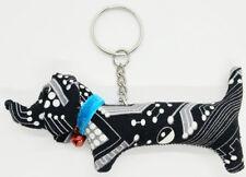 Animal Lover Keyring Doll Pattern Dog Scotch Sewing Charm Cute Fabric