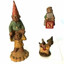 Vintage Tom Clark 3pc Gnomes Ret, Tim and Randy, X my Heart, Funny No Box or Coa
