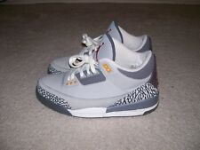 SZ 8.5 Nike Air Jordan III 3 LS Cool Grey White Black Cement 315297-062 XI IV IX