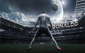 CR7 Cristiano Ronaldo Madrid Football 3d Mural Wall View Sticker Poster 1009