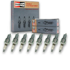 8 pc Champion Double Platinum Spark Plugs for 1994-2004 Land Rover Discovery qa