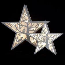 Bianco realizzato a mano in legno 36cm Star per la tavola, finestra, Wall - 10 LED-BATTERIA