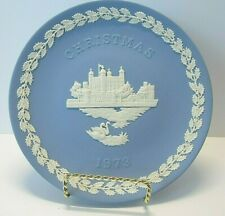Wedgwood 1973 Christmas Plate- Pale Blue and White Jasper - Tower Of London