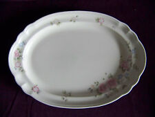 Pfaltzgraff Tea Rose china dinnerware large oval serving plate platter EUC