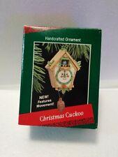 "Rare Hallmark Keepsake Handcrafted Ornament ""Christmas Cuckoo"" 1988 New"
