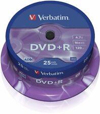 Verbatim 25 DVD+R DVD Blank Recordable Discs DVD plus R