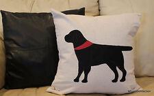 Dog Black Throw Pillow Cover Designer Beautiful Home Bandana Accent Labador