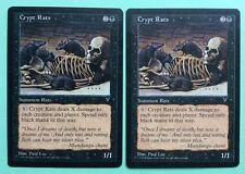 MTG MAGIC Carte x2 RATS DES CRYPTES Crypt Rats Ext. VISIONS 1996