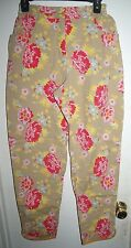 Oilily Womens Beige Pink Flowers Floral Pants L Large