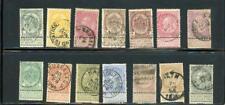 Belgium 1893-1900 Scott# 60-72,75 Canceled