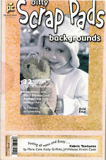 PAPER PAD - PROVO CRAFT BITTY SCRAP PAD. FABRIC TEXTURE BACKGROUNDS. 32 SHEETS