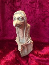 "Old Small 5.5"" Plaster CHALK WARE MYTHICAL GARGOYLE STATUE FIGURINE"