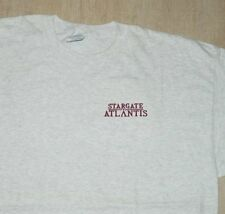 Stargate Atlantis TV Series Embroidered Name Logo T-Shirt SIZE MEDIUM NEW UNWORN