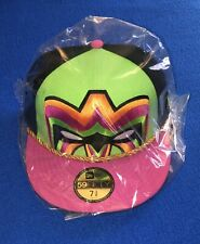 RARE Ultimate Warrior WWE 59FIFTY New Era Fitted Cap 7 3/8 Hat wwf nwo wcw