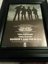 Booker T. And The M.G.'s Soul Limbo Rare Original Promo Poster Ad Framed!