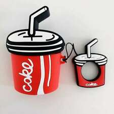2019 3D Cartoon Coke Cola Headset Airpods Charge Case Cover For Airpod + Ring