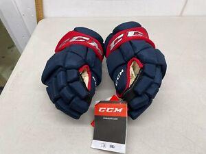 "CCM Pro Feel 14"" Hockey Gloves - Navy / Red"