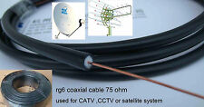 RG 6 COAXIAL CABLE / ROLL FOR CABLE TV, DTH, DISH TV - OUTDOOR USE - 60 FEETS