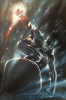 Silver Surfer Oil Painting Comic Art Hand-Painted on Canvas NOT a Print 24x36