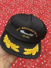 Uss Westchester Vintage Navy Hat Military New York