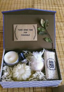 Bath GIFT SET, VEGAN, HANDMAD  with  SOAP, BATH BOMBS, CANDLE  | Value pack