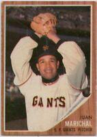1962 Topps #505 Juan Marichal VG-VGEX Wrinkle San Francisco Giants FREE SHIPPING