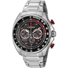 Citizen WDR Eco-Drive Black Dial Stainless Steel Men's Watch - Silver