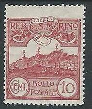 1903 SAN MARINO VEDUTA 10 CENT MH * - M19-8