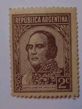 ARGENTINA SCOTT 420-1935-2C JUSTO JOSE DE URQUIZA-DARK BROWN-MINT/NEVER HINGED