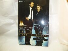 The Official Guide to the X-Files I Want to Believe by Chris Carter Volume 3 new