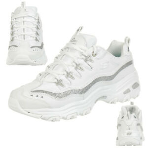 Skechers Sport D'Lites-Now & Then Damen Sneaker, weiss