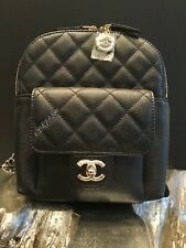 NWT CHANEL BLACK CAVIAR BACKPACK GOLD MINI SMALL NEW TRAVEL CLASSIC FLAP POCKET