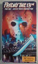 Friday The 13th - Part VIII: Jason Takes Manhattan - VHS - Ex-Rental - Slasher