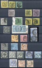 BADEN 1851-1868 gestempelte SCHÖNE SAMMLUNG + 2 BRIEFE(56206c
