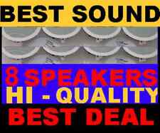 "(8-PACK)  CEILING / IN WALL - 8"" HI QUALITY SPEAKERS"
