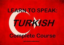 LEARN TO SPEAK TURKISH FAST - LANGUAGE COURSE- 18 HRS AUDIO MP3 & 2 BOOKS ON DVD