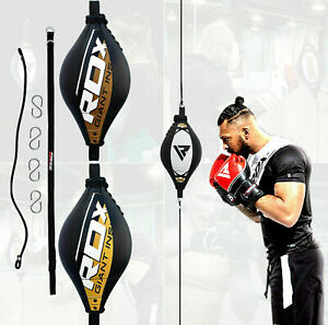 RDX Leather Double End MMA Boxing Bag Dodge Speed Ball Floor to Ceiling Punch AU