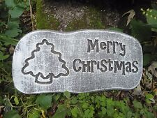 Merry Christmas Bells Plaque Concrete Plaster or Cement Mold 7101 Moldcreations
