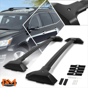 For 09-17 Chevy Traverse OE Style Aluminum Roof Rack Crossbar Baggage Rail Black