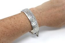 A Nice Heavy Vintage C1957 Sterling Silver 925 GJ Ltd Bangle Bracelet 37g #21815