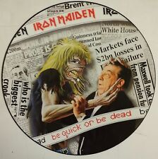 "Iron Maiden Be Quick or Be Dead maxi 12"" UK 1992  fotodisco+encarte"